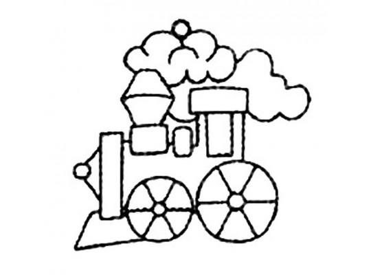 Sklíčko závěsné s konturou-lokomotiva