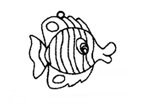 Sklíčko závěsné s konturou-ryba