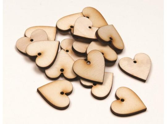 Srdíčka dřevěná (20ks)