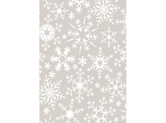 Papír transparentní A4-vločky sněhové