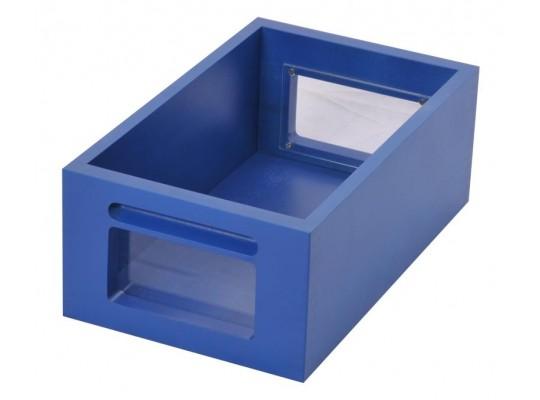 Kontejner dřevěný okénko-modrý