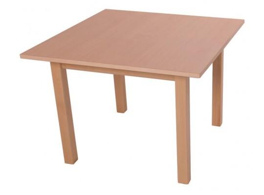 Stůl čtverec 80x80cm-výška 70cm-masiv buk+lamino buk
