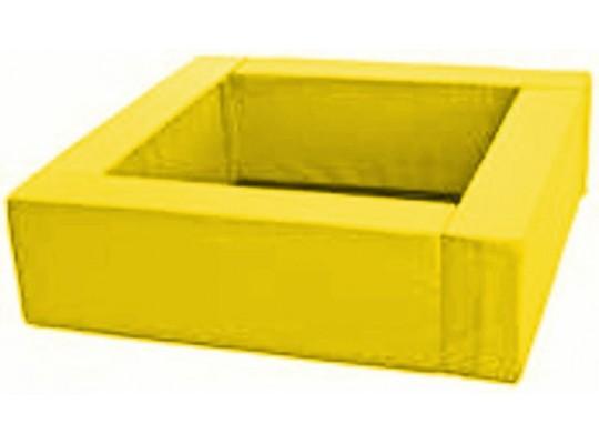 Bazén čtvercový žlutý-koženka