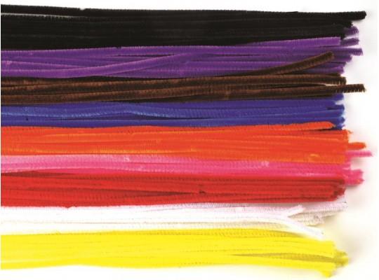 Chlupaté drátky barevné - průměr 6mm                                                                                                                                                                                                                (50ks)