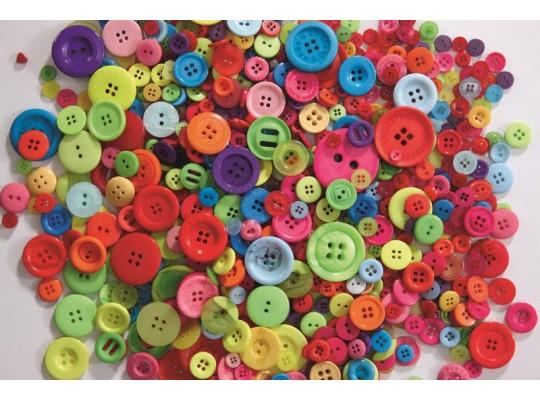 Knoflíky plastové směs