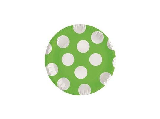 Talířek z papíru puntík-zelený