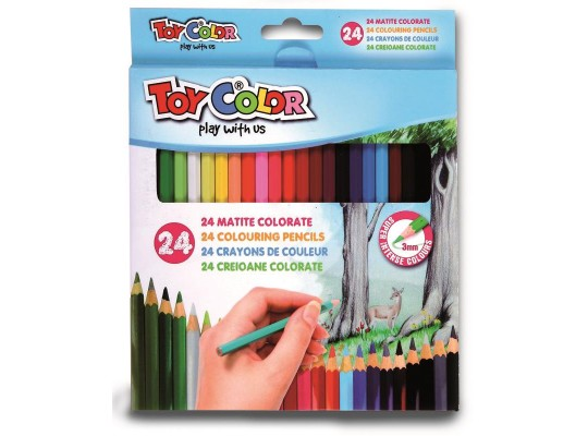 Pastelky Toy Color slabé (24)