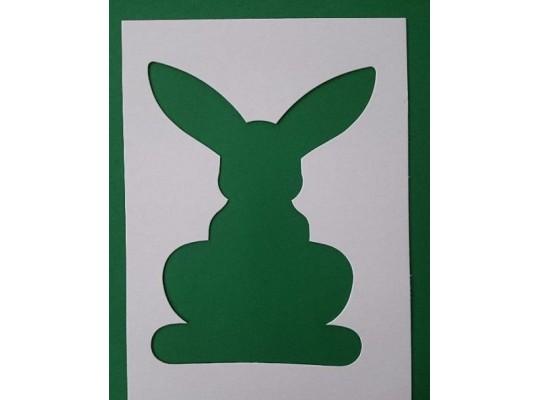Šablona z lepenky- Zajíc velký (3ks)