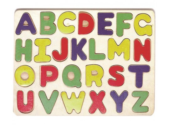 Vkládačka dřevěná-písmena