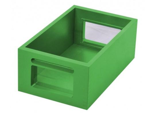 Kontejner dřevěný okénko-zelený