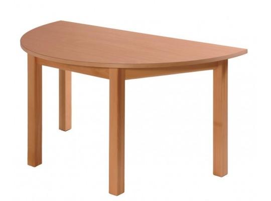 Stůl půlkruh 120x60cm-výška 76cm