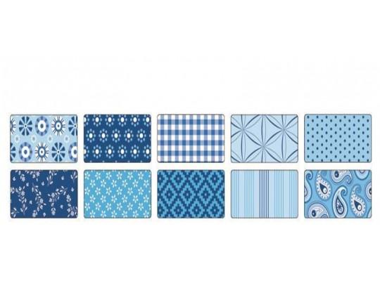 Papír na skládání dekorační modrý