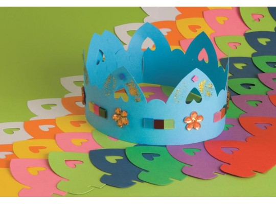 Královská koruna z papíru barevná-sada