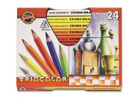 Pastelky Triocolor silné (24)