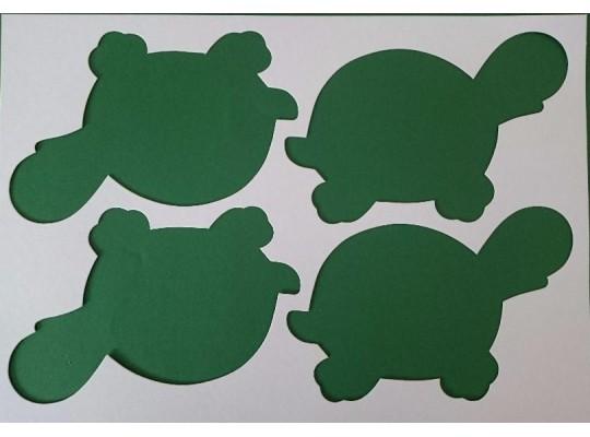 Šablona z lepenky želvička-sada