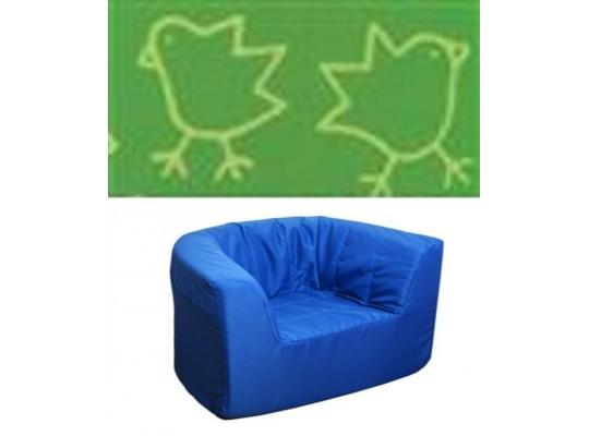 """Křeslo - mikroplyš """"Kuřátka"""" - zelená"""