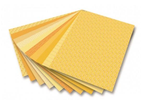 Blok dekorační-žlutý