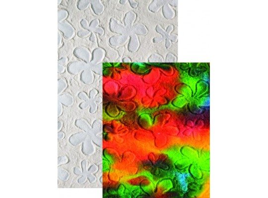 Papír morušový A4-kytičky