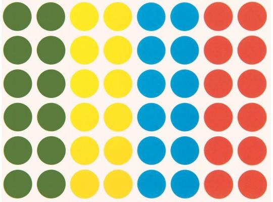 Kolečka samolepicí barevná