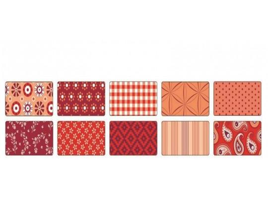 Papír na skládání dekorační červený