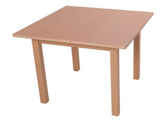 Stůl čtverec 80x80cm-výška 46cm-masiv buk+lamino buk
