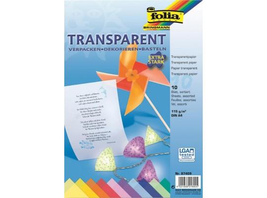 Papír transparentní barevný