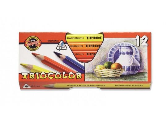 Pastelky Triocolor silné (12)