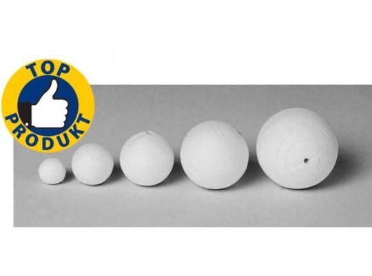 Vatové koule bílé - průměr 5 cm (10ks)