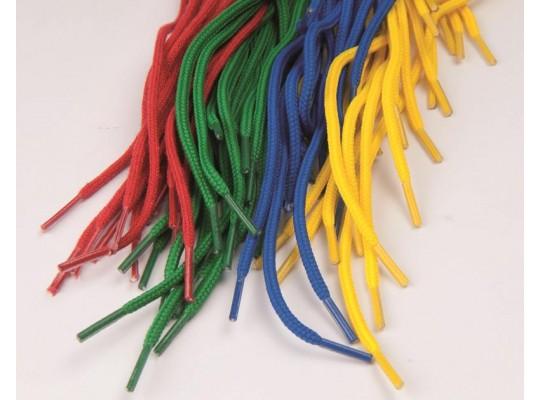 Tkaničky textilní - modré (10ks)