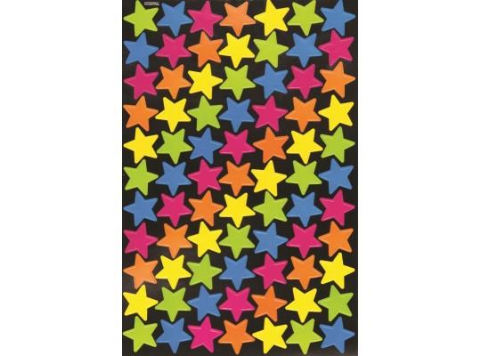 Hvězdičky samolepicí neonové