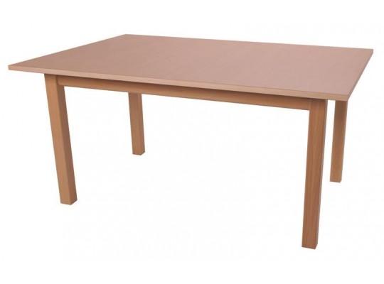 Stůl obdélník 120x80cm-výška 76cm-masiv buk+lamino buk