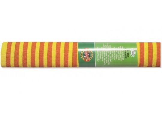 Krepový papír s proužky - sada (3role)