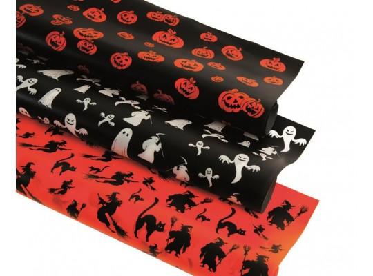 Transparentní papír Halloween duchové