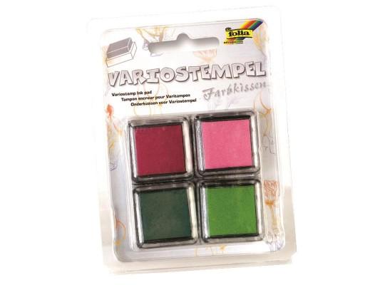 Razítkové polštářky 2x zelená, 1x vínová, 1x růžová