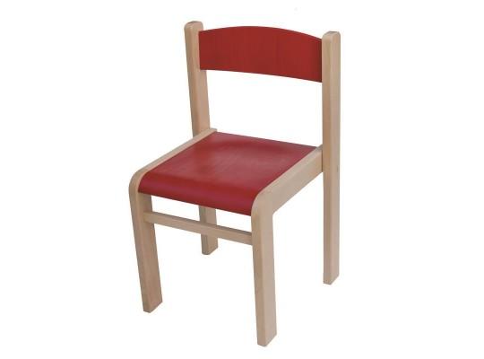 Židle dětská červená-výška 34cm