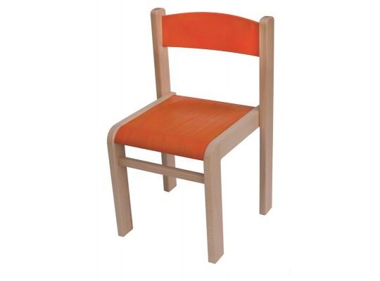 Židle dětská oranžová-výška 30cm