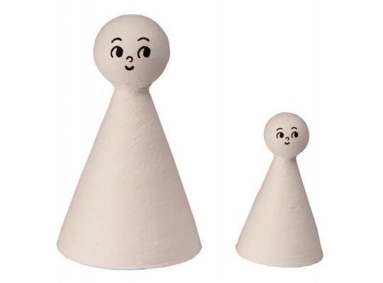 Vatové figurky s obličejem - velké (10ks)