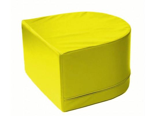 Stavebnice z PUR pěny housenka-koncová část-žlutá