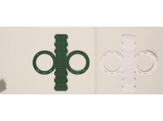 Lampiony z vlnité lepenky - kruhové bílé                                                                                                                                                                                                             (5ks)