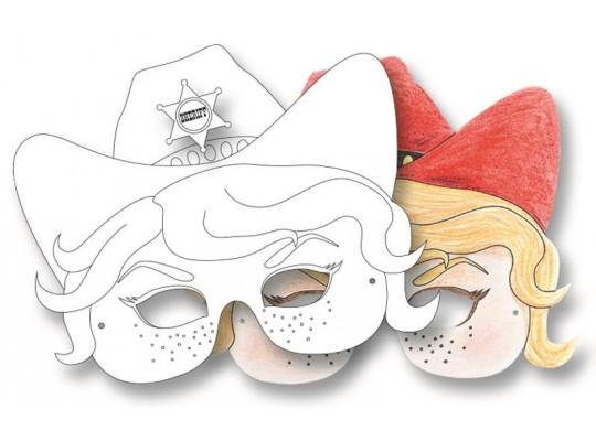 Masky karneval - kontura                                                                                                                                                                                                                             (6ks)