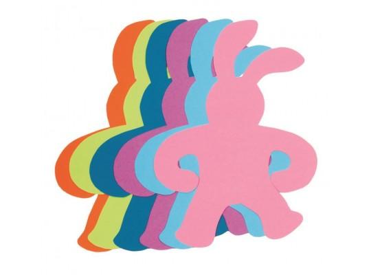 Zajíc z papíru barevný