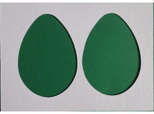 Šablona z lepenky -  Vajíčko malé (10ks)