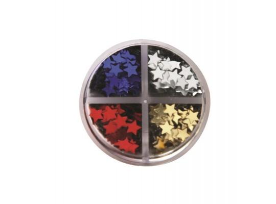 Hvězdičky na posypání-4 barvy