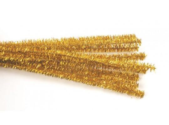 Drátky chlupaté třpytivé-zlaté