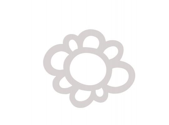 Květina z papíru bílá-obrys