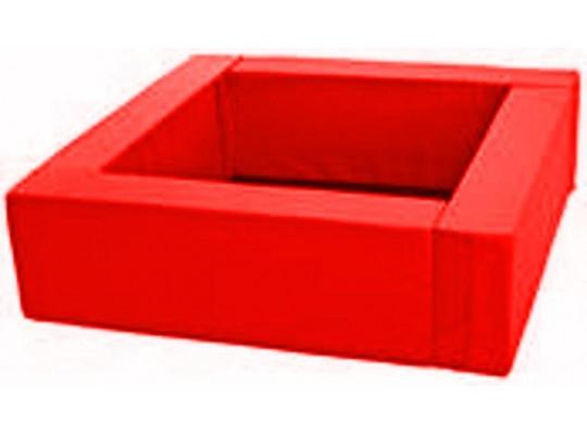 Bazén čtvercový červený-koženka