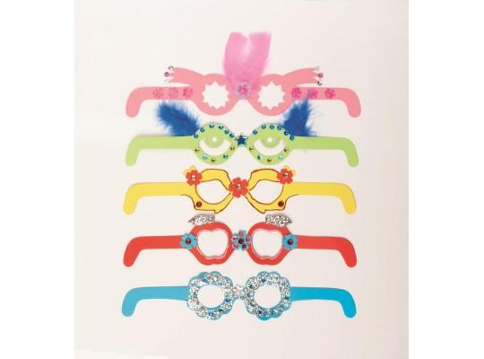 Brýle z papíru karneval barevné sada