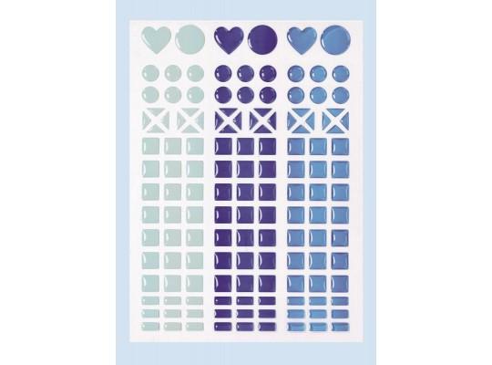 Kamínky mozaikové samolepicí modré