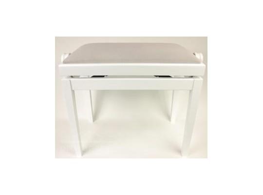 Stolička k pianu - bílá