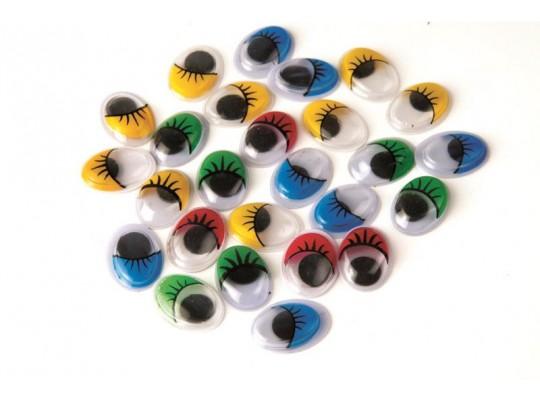 Oči s řasami (40ks)